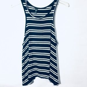 Windsor Tank Top Blue And White Size Large